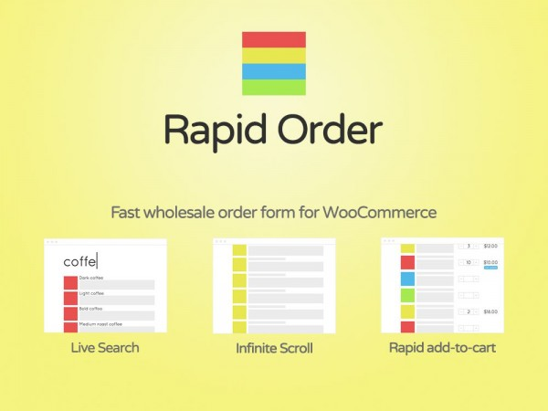 Wholesale order form for WooCommerce