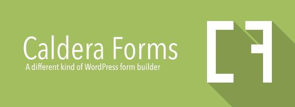 Caldera Forms: A different kind of WordPress form builder.