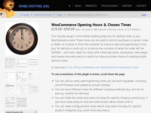 WooCommerce Opening Hours