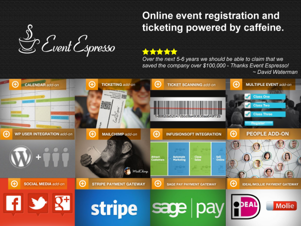 Event Espresso - online event calendar registration ticketing plugin for WordPress