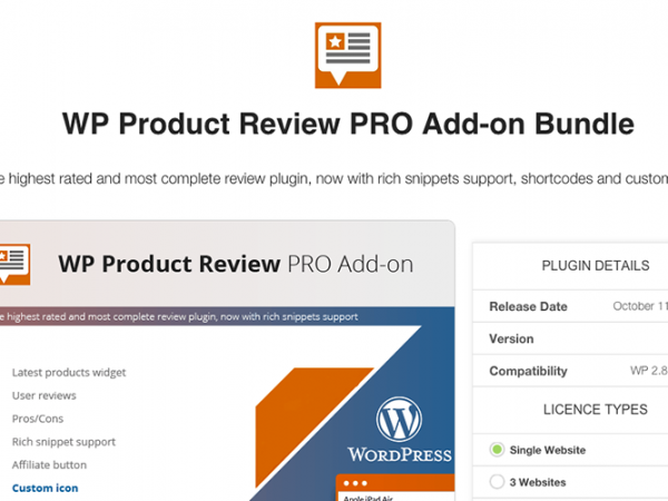 WP Product Reviews WordPress Plugin