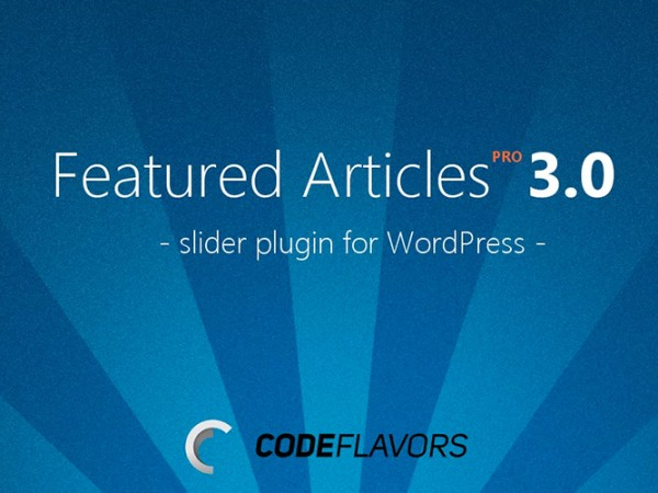 Featured Articles PRO - WordPress slider plugin