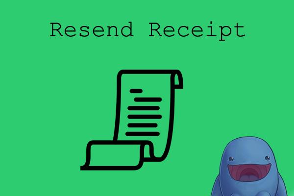 EDD Resend Receipt