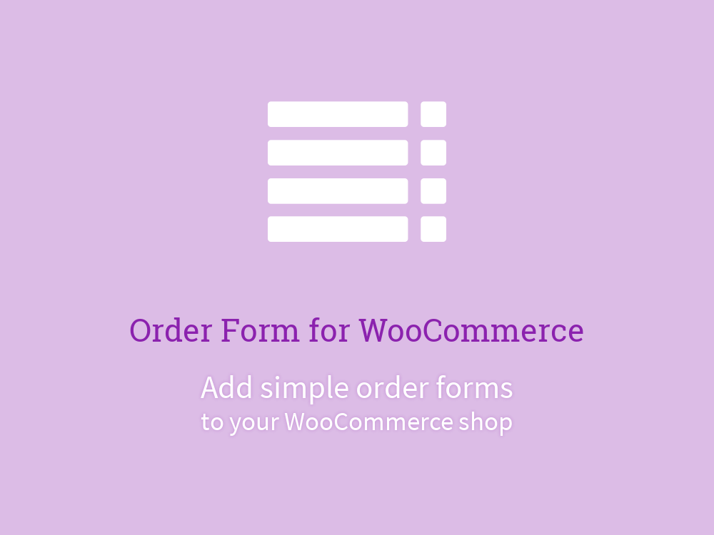 Order Form for WooCommerce