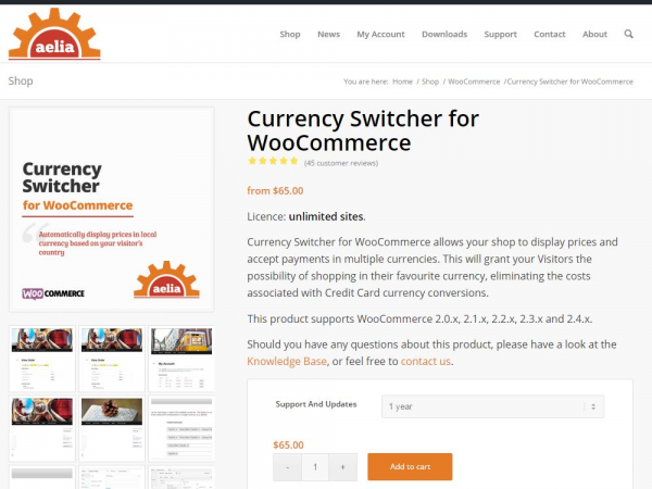 WooCommerce Currency Switcher - The most flexible multi-currency solution for WooCommerce