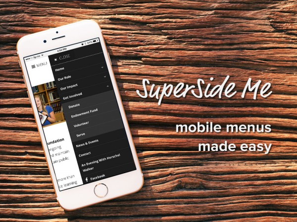 SuperSide Me: a Side Menu plugin for WordPress