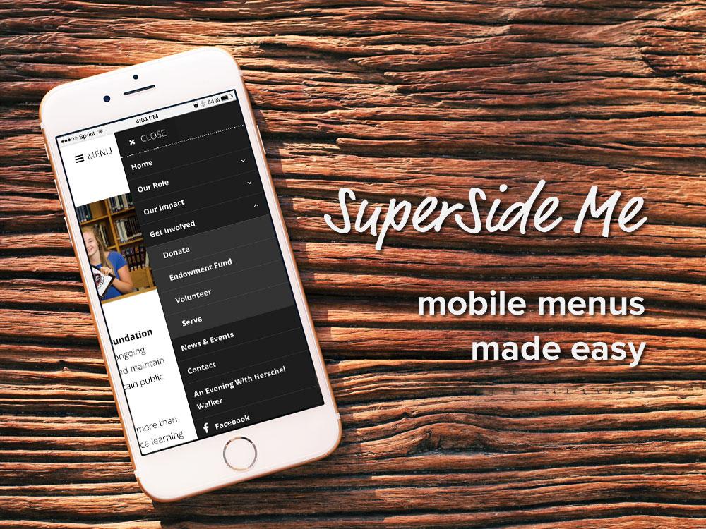 SuperSide Me: a Side Menu plugin for WordPress
