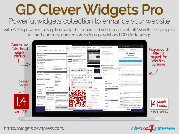 GD Clever Widgets WordPress Plugin